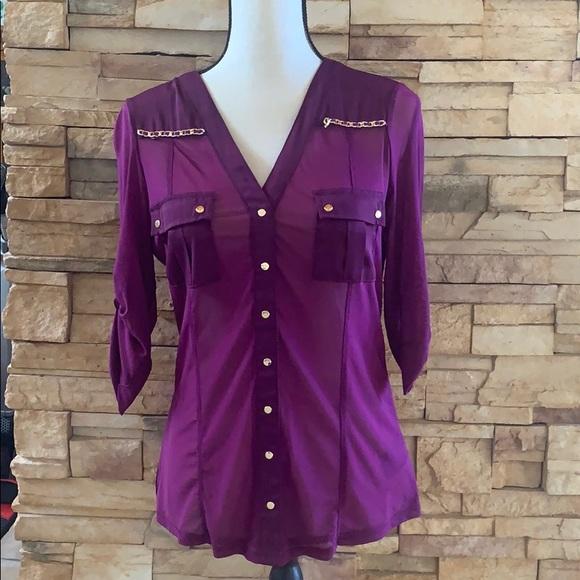 bebe Tops - Purple button down top